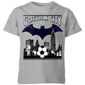 DC Comics Batman Football Gotham City Kids' T-Shirt in Grey