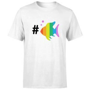 Rainbow Fish Bubble Men's T-Shirt - White