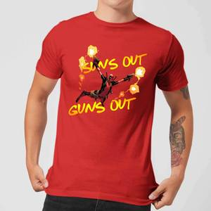 Marvel Deadpool Suns Out Guns Out Men's T-Shirt - Red