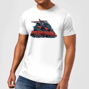 Marvel Deadpool Sword Logo Men's T-Shirt - White