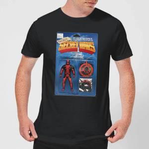 Marvel Deadpool Secret Wars Action Figure Men's T-Shirt - Black