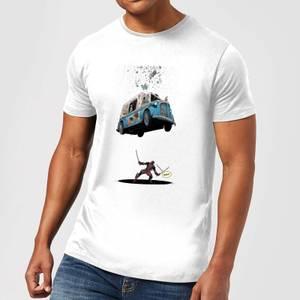 Marvel Deadpool Ice Cream Men's T-Shirt - White