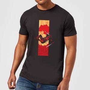 Marvel Deadpool Blood Strip Men's T-Shirt - Black