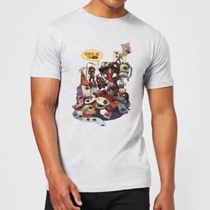 Marvel Deadpool Merchandise Royalties Men's T-Shirt - Grey