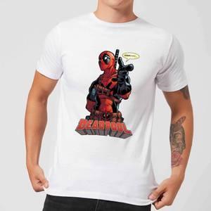 Marvel Deadpool Hey You Men's T-Shirt - White