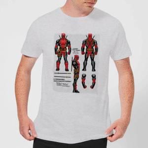 Marvel Deadpool Action Figure Plans Men's T-Shirt - Grey