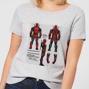 Marvel Deadpool Action Figure Plans Women's T-Shirt - Grey