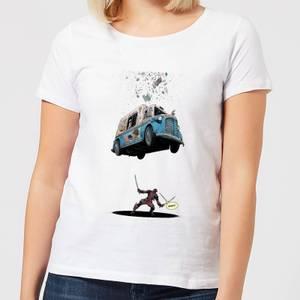 Marvel Deadpool Ice Cream Women's T-Shirt - White