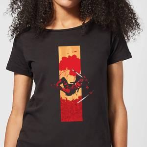 Marvel Deadpool Blood Strip Women's T-Shirt - Black