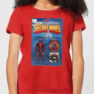 Marvel Deadpool Secret Wars Action Figure Women's T-Shirt - Red