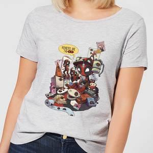 Marvel Deadpool Merchandise Royalties Women's T-Shirt - Grey