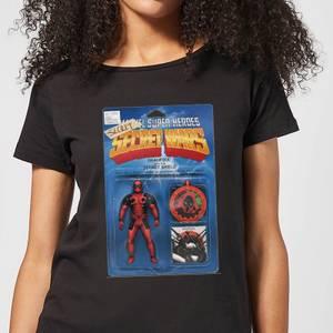 Marvel Deadpool Secret Wars Action Figure Women's T-Shirt - Black