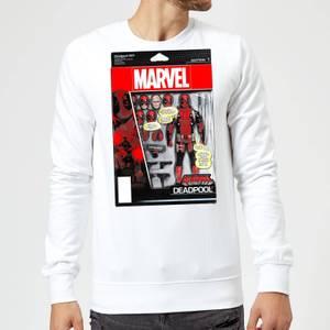 Marvel Deadpool Action Figure Sweatshirt - White