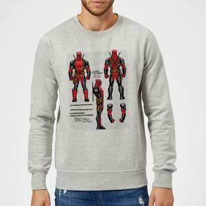 Marvel Deadpool Action Figure Plans Sweatshirt - Grey