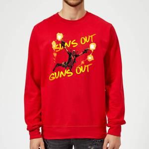 Marvel Deadpool Suns Out Guns Out Sweatshirt - Red