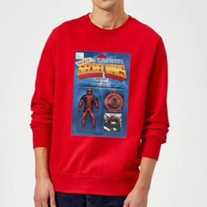 Marvel Deadpool Secret Wars Action Figure Sweatshirt - Red