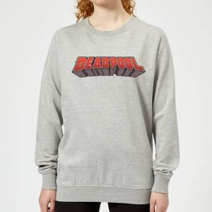 Marvel Deadpool Logo Women's Sweatshirt - Grey
