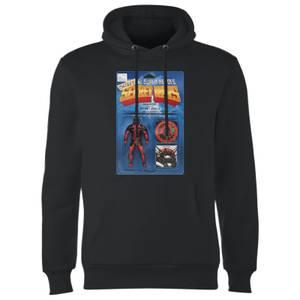 Marvel Deadpool Secret Wars Action Figure Hoodie - Black