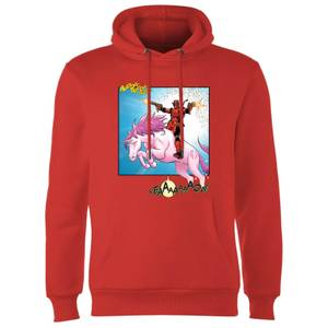 Marvel Deadpool Unicorn Battle Hoodie - Red