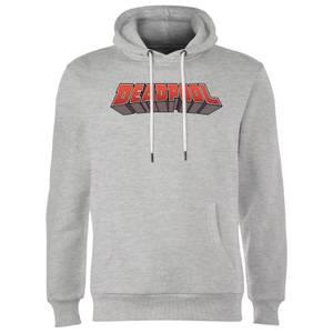Sweat à Capuche Homme Logo Deadpool Marvel - Gris