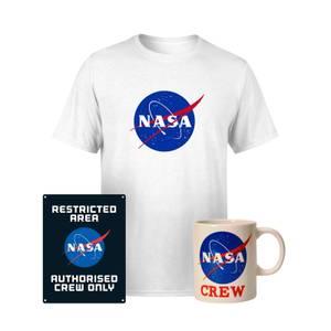 NASA Paket: T-Shirt, Tasse & Blechschild