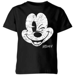 T-Shirt Enfant Disney Mickey Mouse Vintage - Noir