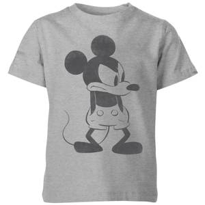 Disney Angry Mickey Mouse Kids' T-Shirt - Grey
