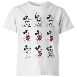 Disney Evolution Nine Poses Kids' T-Shirt - White