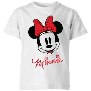 Camiseta Disney Mickey Mouse Minnie Cara - Niño - Blanco