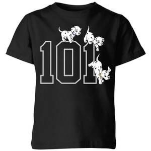 T-Shirt Enfant Disney 101 Chiots 101 Dalmatiens - Noir