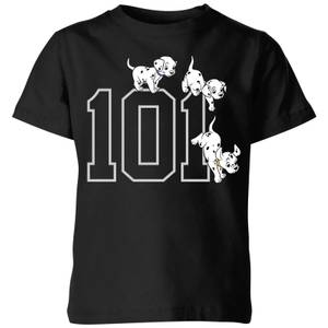 Disney 101 Dalmatians 101 Doggies Kids' T-Shirt - Black