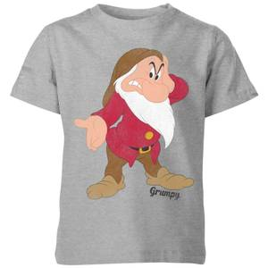Disney Snow White Grumpy Classic Kids' T-Shirt - Grey