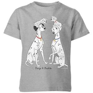 Disney 101 Dalmatiner Pongo & Perdita Classic Kinder T-Shirt - Grau