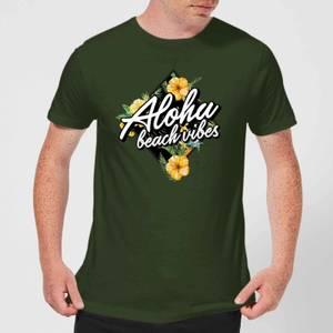 Aloha Beach Vibes Men's T-Shirt - Forest Green