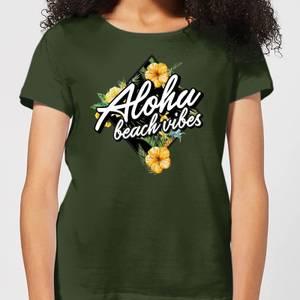 Aloha Beach Vibes Women's T-Shirt - Forest Green