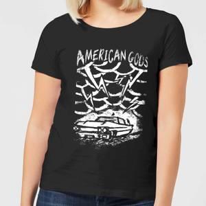 T-Shirt Femme American Gods Car Storm - Noir