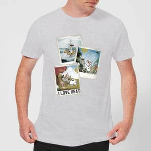 Disney Frozen Olaf Polaroid Men's T-Shirt - Grey