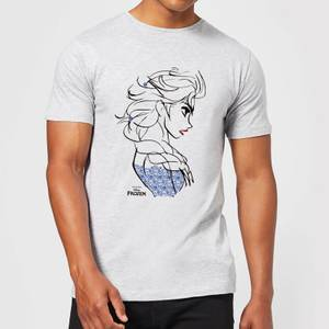 Disney Frozen Elsa Sketch Strong Men's T-Shirt - Grey
