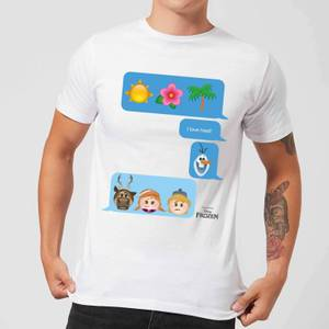 Disney Frozen I Love Heat Emoji Men's T-Shirt - White