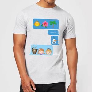T-Shirt Disney Frozen I Love Heat Emoji - Grigio - Uomo