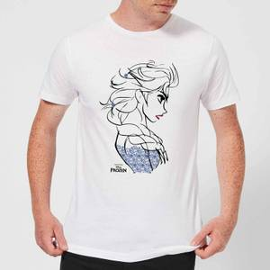 Disney Frozen Elsa Sketch Strong Men's T-Shirt - White