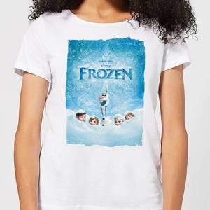 Disney Frozen Snow Poster Women's T-Shirt - White
