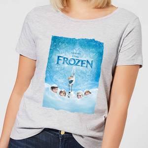 Disney Frozen Snow Poster Women's T-Shirt - Grey