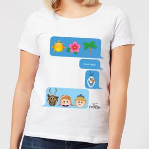 T-Shirt Disney Frozen I Love Heat Emoji - Bianco - Donna