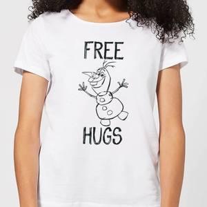 T-Shirt Disney Frozen Olaf Free Hugs - Bianco - Donna