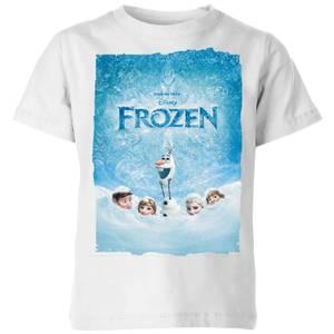 Disney Frozen Snow Poster Kids' T-Shirt - White