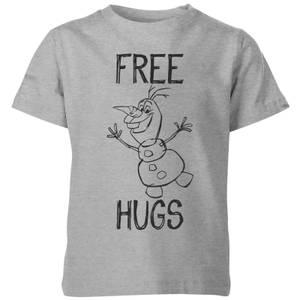 Disney Frozen Olaf Free Hugs Kids' T-Shirt - Grey
