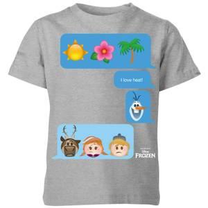 Disney Frozen I Love Heat Emoji Kids' T-Shirt - Grey