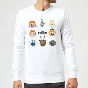 Sweat Homme La Reine des Neiges - Emoji - Blanc