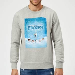 Disney Frozen Snow Poster Sweatshirt - Grey